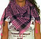 Pink Plaid Scarf Black and Pink Check
