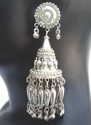 Traditional Indian Silver Earings EA1_B