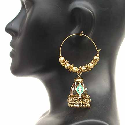 Traditional Indian Gold Earrings EA_F
