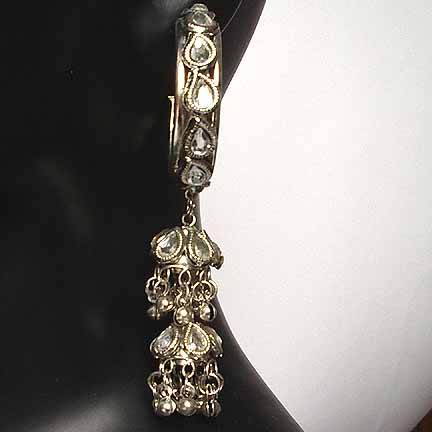 Traditional Indian Silver Earrings EA_G