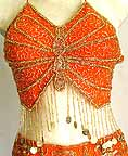 Egyptian Belly Dancing Costume Orange A