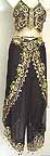 Harem Pant Black Belly Dancer Costume Dress B