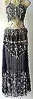 Egyptian Belly Dance Costumes Black Dress DS