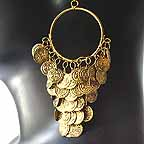 D1L Belly Dancer Gold Coin earrings