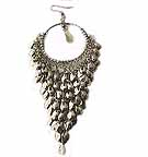 D1N Belly Dancing Silver Earrings