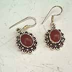D1O Chandelier Earings Ruby Red