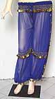 Harem Pants Belly Dancing Blue Chiffon b