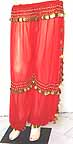 Belly Dancing Trousers Harem Pants Orange b Gold