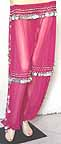 Silver Coin Fuschia Harem Pant Belly Dancing b