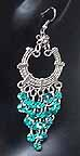 Belly dancing Turqoise Coin Dangler Earrings AG