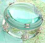 3 Glass Lens Magnifier Magnifying Glass Silver Stand