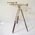 Vintage Nautical Telescope 18  Double Barrel w Tripod