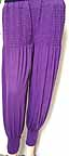 Knit Yoga Pants Harem Pants Purple
